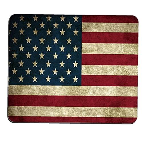 Bandera americana de impresión alfombrilla de ratón tapete de ratones EE.UU. América Bandera personalizada del rectángulo Mousepad de impresión en color de la bandera alfombrillas de ratón, bandera