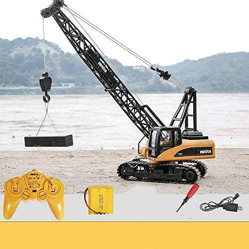 WANGCH Grúa eléctrica Coche de Control de Juguete Coche de Control Remoto para niños Aleación RC15 Canales Control Remoto Vehículo de ingeniería 2.4G Control Remoto inalámbrico Camión de construcción