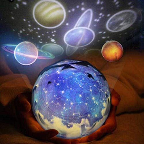 HDZWW Apaisant Aurora LED Night Light Projecteur Magic Planet Projecteur Univers 3D Lampe Lava Lampe Coloré Clignotant Ciel Étoché Projecteur Enfants Cadeau