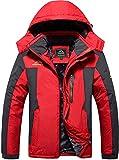 TACVASEN Ski Jackets Men's Snow Fleece Jacket Rainproof Fishing Hiking Jacket Thermal Cold