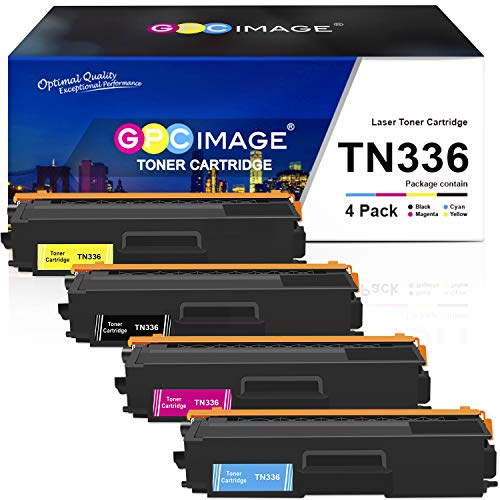 GPC Image Compatible Toner Cartridge Replacement for Brother TN336 TN-336 TN-331 TN331 to use with MFC-L8850CDW HL-L8350CDW MFC-L8600CDW HL-L8250CDN HL-L8350CDWT Printer (Black, Cyan, Magenta, Yellow)