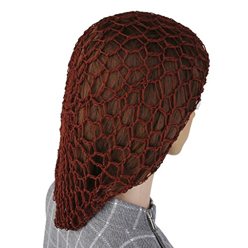 sharprepublic 1x Femmes Rayonne Doux Cheveux Snood Crochet Net Hairnet Chapeau Noir - Brun