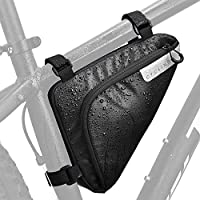 Wotow Bicycle Front Tube Triangle Water Resistant Cycling Pack Strap On Saddle Pouch