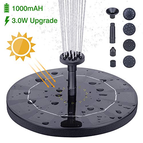 HEYSTOP Solar Fountain Pump, 3.0W Circle Solar Water Pump Floating Fountain...