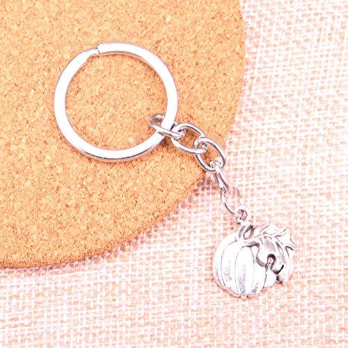 WANGWL Kürbisblattfall-Erntedankfest-Halloween-Charme-Anhänger Keychain Schlüsselring-Ketten-Zusatz-Schmucksachen, die für Geschenke bilden