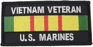 US Marine Corps Vietnam Veteran Iron or Sew On Ribbon Patch USMC Military Vet Gift
