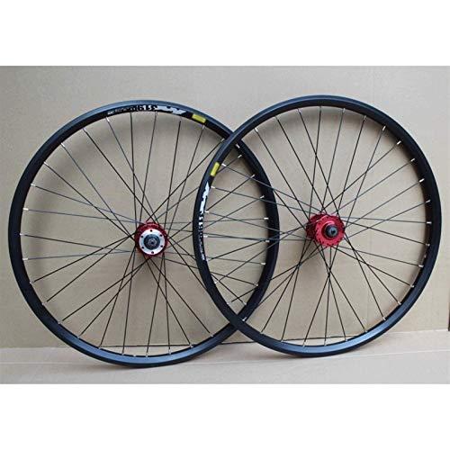 TYXTYX Ejes de liberación rápida Accesorio para Bicicleta Rueda de Bicicleta Llantas de Doble Pared de 24 Pulgadas Juego de Ruedas de Bicicleta BMX Freno de Disco QR Bujes de Casete de 8-10 velocid