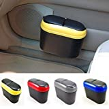 Praxon Auto Rubbish Trash Can Dust Scraps Paper Case Holder Bin/Car Garbage Storage Dust Bin/Travel Waste Container Fits in All Cars, Assorted, 1 Pc