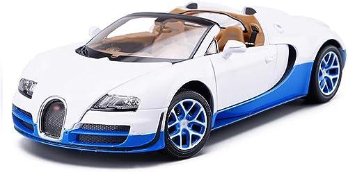 70% de descuento Coche Modelo Bugatti Bugatti Bugatti Veyron 1 18 Boy Car Modelo Simulación Coche Metal Aleación Coche Juguete Coche Puerta 24.5x12x7cm Modelo Coche (Color  azul y blanco)  alta calidad