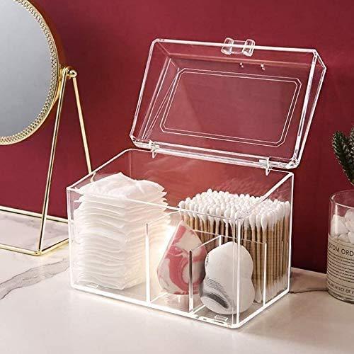Gymqian Maquillage Transparent Coton Coton Boîte Couverture de Bureau Organiseur Boîte À Bijoux Boîte de Rangement Cosmétique Conçu Pour Les Femmes Portable