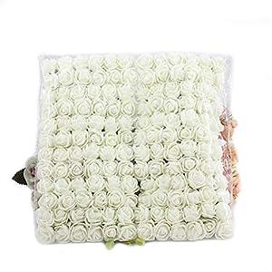 MUCHEN SHOP Mini Rosas Flores Ramos,144 Pack Ramo de Flores de Espuma Pequeñas Rosas Artificiales Lindas para…