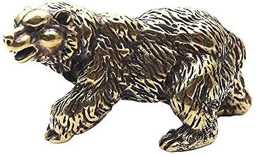 JJDSN Adorno de Estatua de Oso marrón de Cobre Puro, Figuras de Animales de Oso Polar de latón Macizo, miniaturas, Mesa de té, Escritorio para Mascotas, decoración, Accesorios, Manualidades