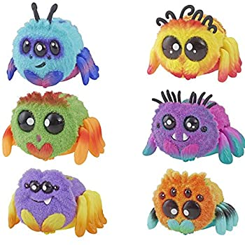 Spider FlufferPuff  Harry Scoots Klutzers Toofy Spooder Bo Dangles and Peeks Voice-Activated Pet  Ages 5 and up - Set of 6