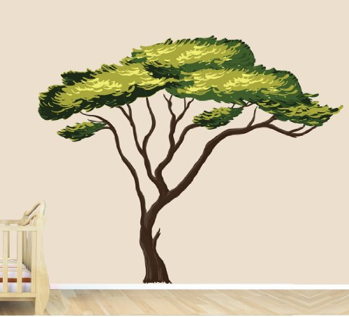 Nursery Decals and More Safari Tree Decal, African Tree Decal, Jungle Stickers