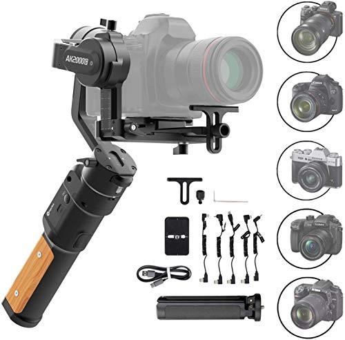 FeiyuTech AK2000C Gimbal Estabilizador De Mano De 3 Ejes Para CáMaras RéFlex Digitales Sin Espejo Como Sony A9/A7, Canon EOS R, M50,80D, Nikon Z7, Carga úTil De 2,2 Kg, Carga RáPida