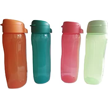 Multicolores 4 * 750 ml Tupperware Eco f/ácil Botella de 750 ml 4 set
