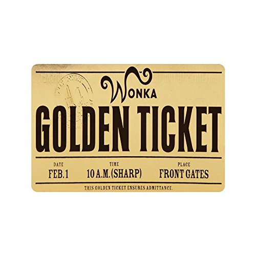 good quality Custom Waschmaschine gewaschen Willy Wonka Golden Ticket Chocolate Bar 3-Fußmatte Dekorative Türmatte Fußmatte 59,9 x 39,9 cm Vlies Stoff rutschfeste Gate Pad Teppich