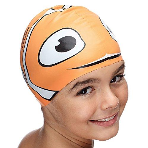 Fun Swimming Cap for Kids & Toddlers - Youth Swim Caps for Girls, Boys & Children Aged 4-12 | Baby & Kid Swim Caps for Long and Short Hair | Kids Swim Hat - Ideal Kids Swimcap for Pool & Bathing