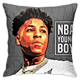Trumpinginging Retro Decorative Throw Pillowcases for Couch & Party, NBA Youngboy Quotes Photo, Mite Proof Velvet Cushion Case with Hidden Zipper, 18 X 18 Inch