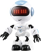 Beaulies R8 Remote Control RC Robot, Programmable Interactive Gesture Sensing Robot Kit, Dancing Singing Walking LED Eyes RC Toy for Children Kids Fun Robotic Birthday Present for Kids (Sky Blue)