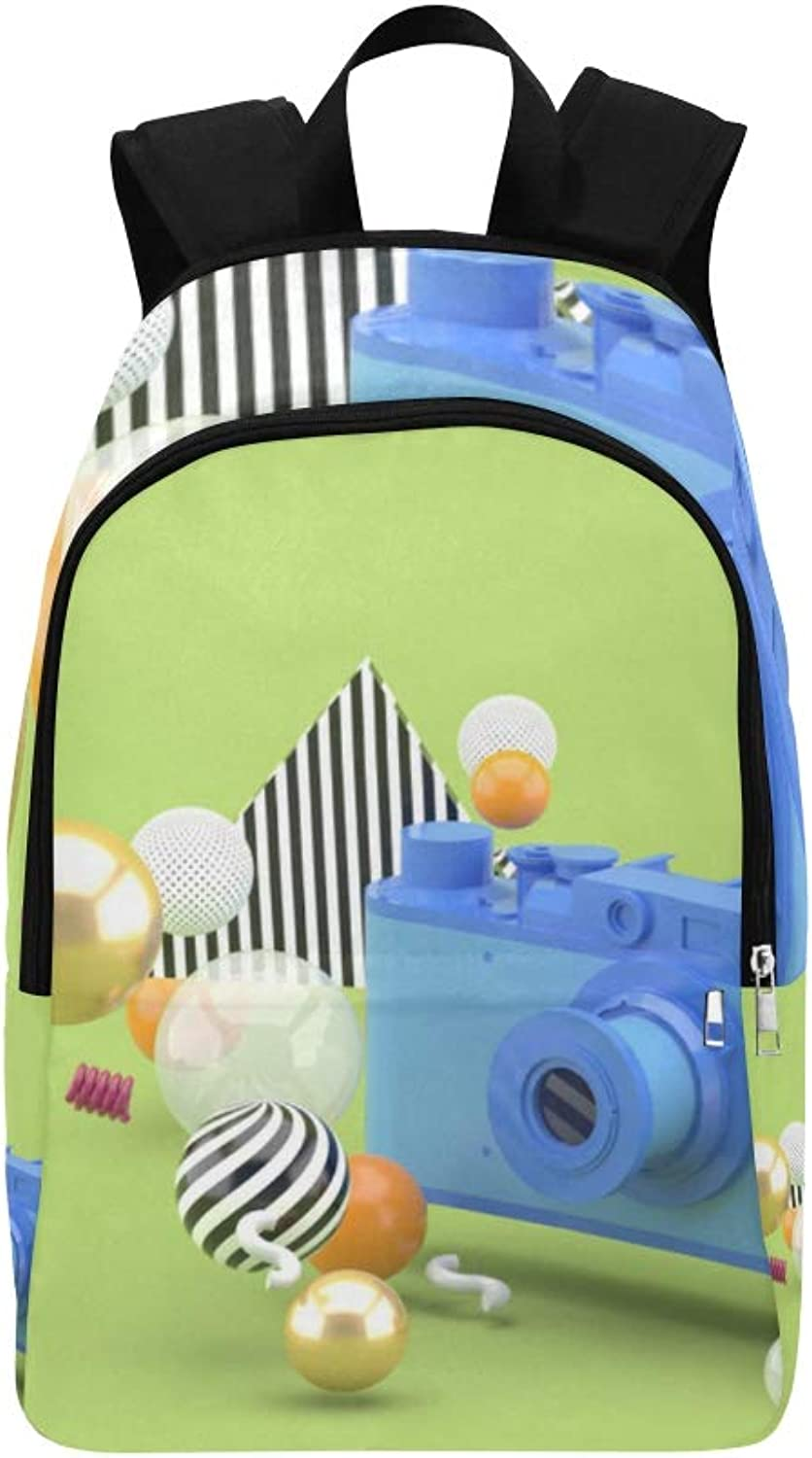 Comfortable and colorful Green Ball Casual Daypack Travel Bag College School Backpack for Mens and Women