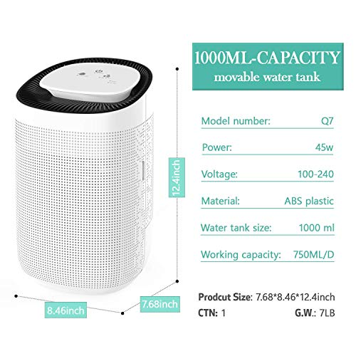 Honati Small Dehumidifier