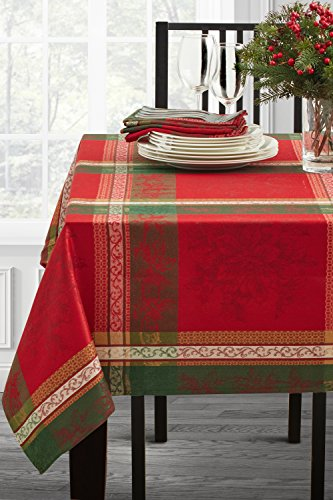 Benson Mills Holiday Legacy Yarn Dyed Tablecloth (Multi, 52' X 70' Rectangular)