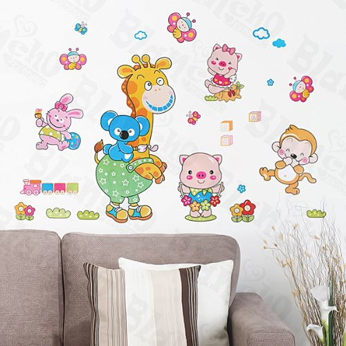 Animal Friends-1 patchs rouge – Stickers muraux Stickers Home Decor