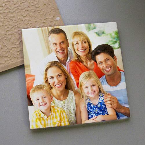 RecontraMago Azulejos Personalizados con Tu Foto - Incluye Pie de Madera - Impresión Baldosas con Tus Frases Imágenes - Decoración del Hogar Bonitos a Madre Bebe Bodas 10x10