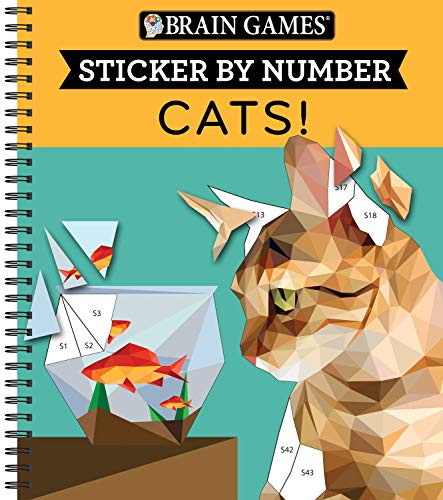 Brain Games - Sticker by Number: Cats! (28 Images to Sticker)