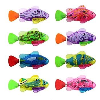 Tipmant Electronic Fish Toy Electric Animal Pets Water Tank Bathtub Swimming Pool Kids Bath Toys Birthday Chiristmas Gift  8 Color