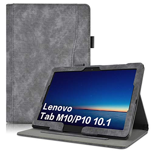 KATUMO Flip Case for Lenovo Tab M10/P10 Cover 10.1 inch for Lenovo TB-X605F/TB-X505F/TB-X705F with Card Pocket Stand Function