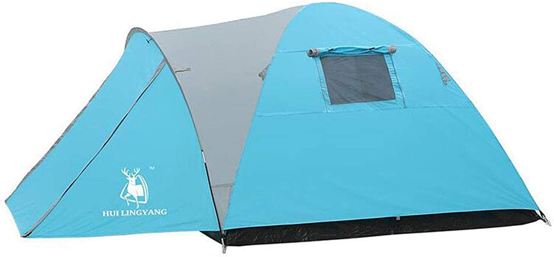 KISlink Doppeltes Campingzelt für 3-4 Personen im Freien, um EIN regensicheres Campingzelt zu Bauen