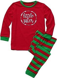 LvRao Family Matching Christmas pjs Xmas Pyjama Set Long Sleeve T-Shirt + Long Pants for Women Men Boys Girls