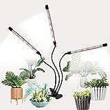 Luz de Planta, Luz de Cultivo LED para Plantas de Interior, 5 Niveles Regulables Cuello de Cisne Ajustable de 360 ° y Clip de Escritorio para Plántulas y Suculentas (84LEDs)