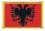 Flaggen Aufnäher Albanien Fahne Patch + gratis Aufkleber, Flaggenfritze®