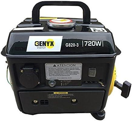 Genyx G820 Generador de Gasolina, 40 x 33 x 33 cm, Amarillo y Negro