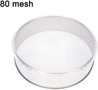 Fine Mesh Flour Sifter, Kitchen Round Stainless Steel Flour Sieve for Electric Powder Vibration Sieve Machine (80 Mesh Only)