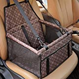 HUAXIANZI Dog Car Booster Seat, Pet Car Supplies Travel Puppy Car Carrier Bag Seat Protector Cover for Small Puppy Dogs Cats Chihuahua -Brown