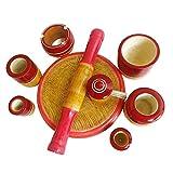 Sri Balajee bangles Eco-Friendly Wooden Kitchen Toy Set (Multicolour, 9 Pieces)