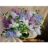 Powzz - Adorno para decoración de diamantes 5D, color lila