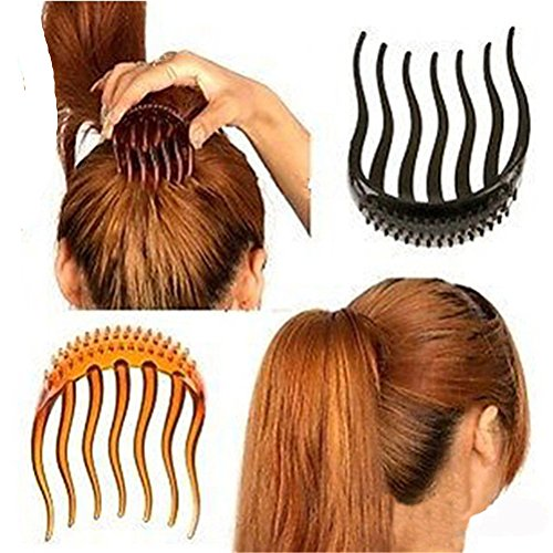 Cuhair, 3 Haarutensilien für mehr Volumen, Haarklammer für Pferdeschwanz, Haarkamm-Zubehör für Frauen