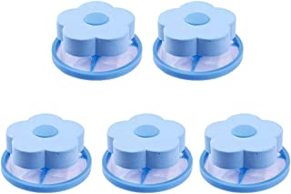 Yardwe 5pcs Washing Machine Lint Filter Bag Hair Filter Net Pouch Washer Hair Catcher Bag Floating Lint Hair Remover Sky Blue