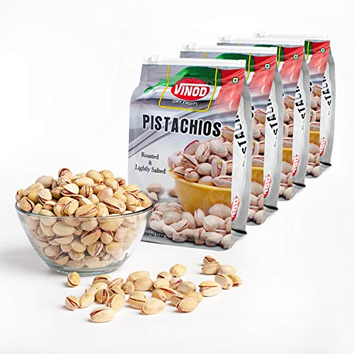 Vinod Dry Fruits - Roasted & Lightly Salted Irani Pistachios - 100% Natural & Premium