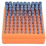 Ftvogue Abrasivo Montado Piedra de Pulido Pulido Ruedas Bits Set Accesorio Para Amoladora Herramientas Rotativas 3 Mm VáStago(Blue)