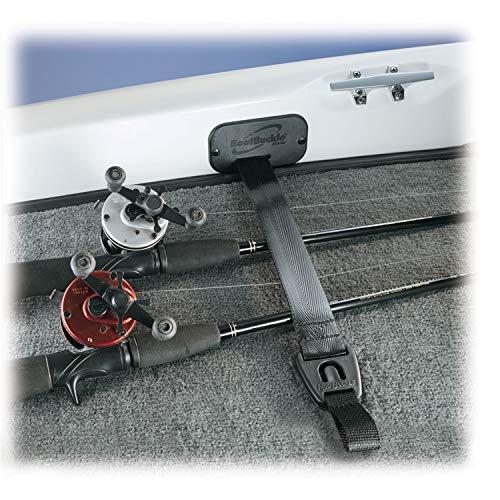 BoatBuckle F14200 Gunwale/Deck Mount Retractable Rod Tie-Down