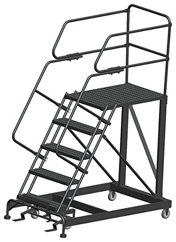 Ballymore Tough Welded Steel Single Entry Mobile Work Platform - 5 Step, 36 x 36 x 50 inch - 1 each.
