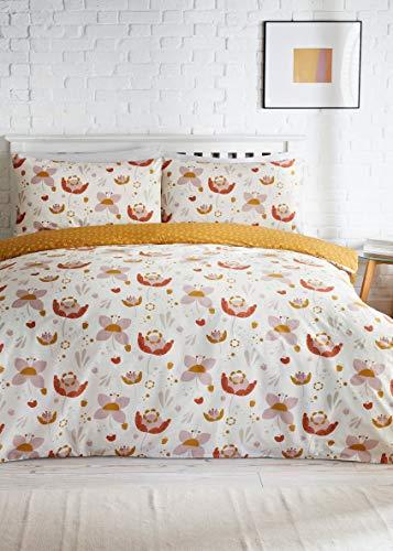 RA-HOMESTORE New Scandi style Reversible Bold Floral Duvet Cover in Kingsize
