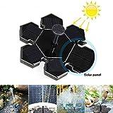 AngLink Solar Springbrunnen, Solar Teichpumpe mit 1.5W Solar Panel Schwimmende Fontäne Wasserpumpe, 4 Düsen für Gartenteich, Vogel-Bad, Fisch-Behälter, Kleinen Teich,...