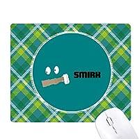 緑の感情Smilkは、挑発します 緑の格子のピクセルゴムのマウスパッド